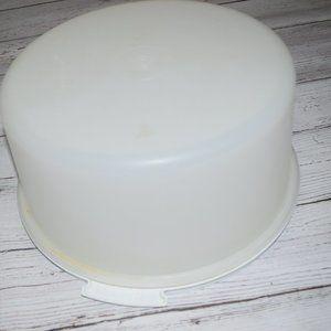 Tupperware Kitchen - vtg Tupperware Cake Taker Server Carrier 1256 1257